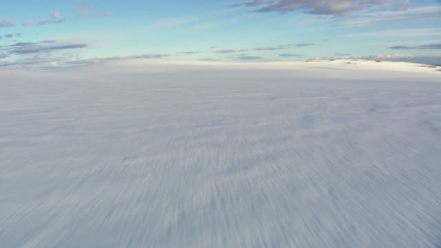 WS AREAIL View of Snow covered at glacier  / Iceland
