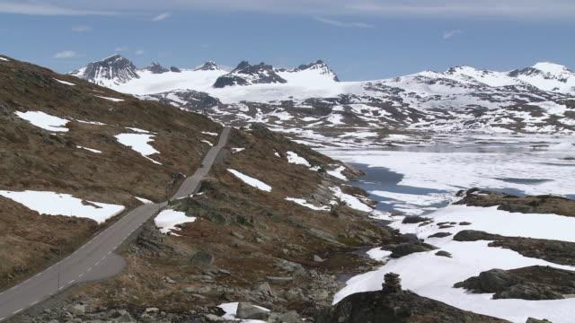 WS View of snow on Sognefjellsvegen mountain / Jotunheimen Nationalpark, Sogn og Fjordane, Norway