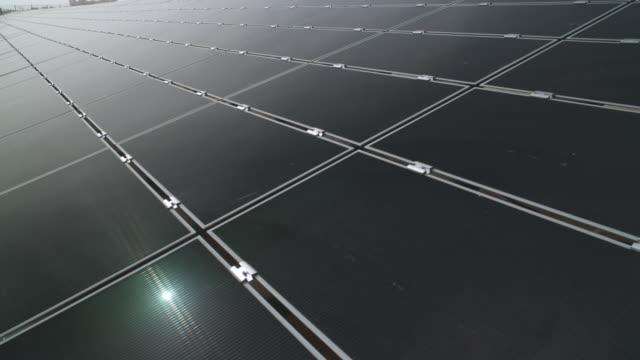 MS View of solar panels / Abu Dhabi, United Arab Emirates