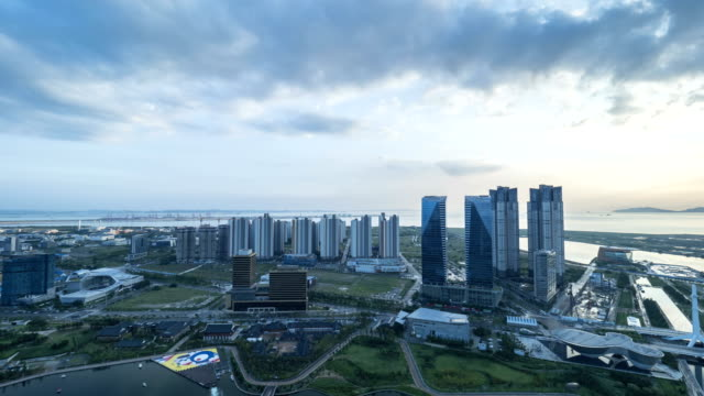 View of Songdo Central Park in Incheon