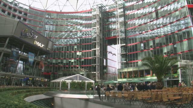 MS View of Sony Center at Potsdamer Platz / Berlin, Germany