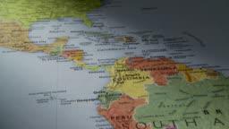 Map Of South Georgia Usa.Cu Pan View Of South America In World Map Atlanta Georgia Usa Stock Footage Video