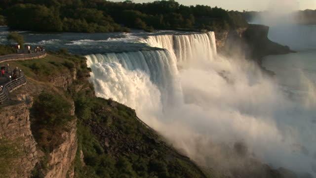 View of Spectators near Niagara Falls in New York United States