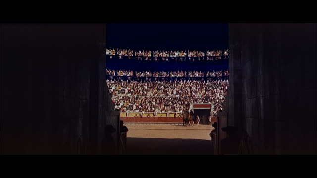 ms view of  spectors standing at bullfight riders in arena' - bullfighter stock videos & royalty-free footage