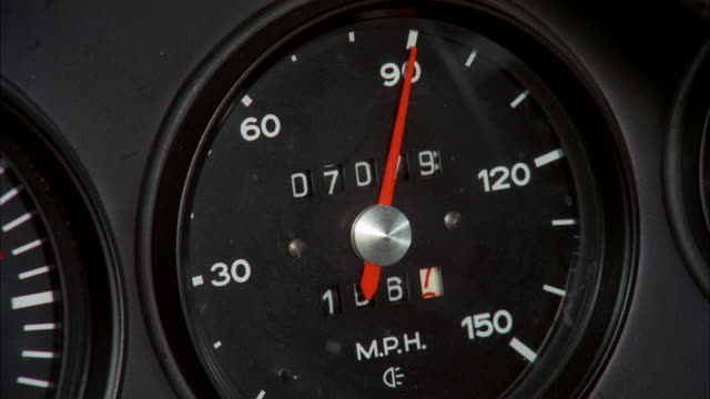 cu view of speedometer of porsche - speedometer stock videos & royalty-free footage