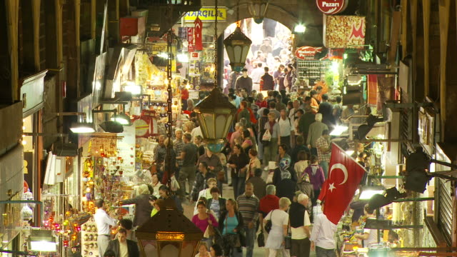 View of Spice Bazaar in Istanbul, Turkey
