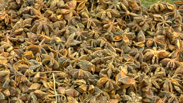 ms view of spices in market / muscat, oman - star anise stock videos and b-roll footage