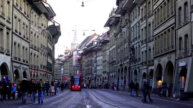 View of Spitalgasse street in Bern City