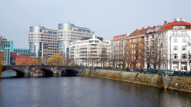 WS View of Spree river at Spreebogen and interior ministry / Berlin, Germany