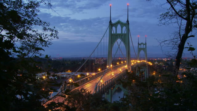 View of St. Johns Bridge Portland USA