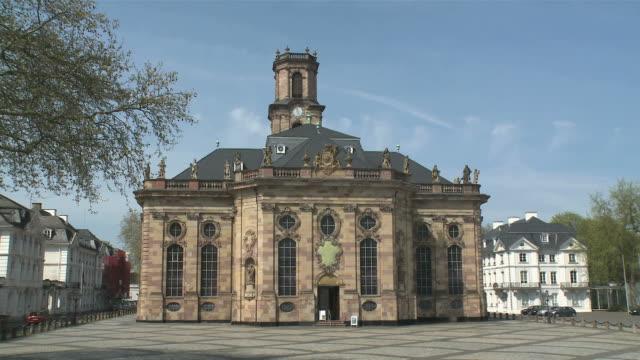 WS View of St. Ludwig church at Ludwig Square / Saarbrücken, Saarland, Germany