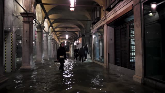 a view of st mark square in venice italy on june 5 2020 unusually high tide hit the canal city of venice in june the italian civil protection centre... - 2 5 months stock videos & royalty-free footage