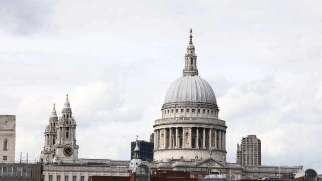 a view of st paul's cathedral in london england on may 6 2019 st paul church is an anglican cathedral and seat of the bishop of london - bishop of london stock videos & royalty-free footage