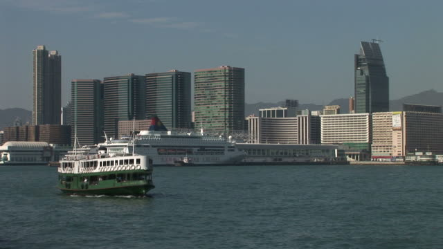 View of Star Ferry in Hong Kong China