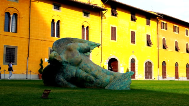 View of Statue of Fallen Angel in Pisa