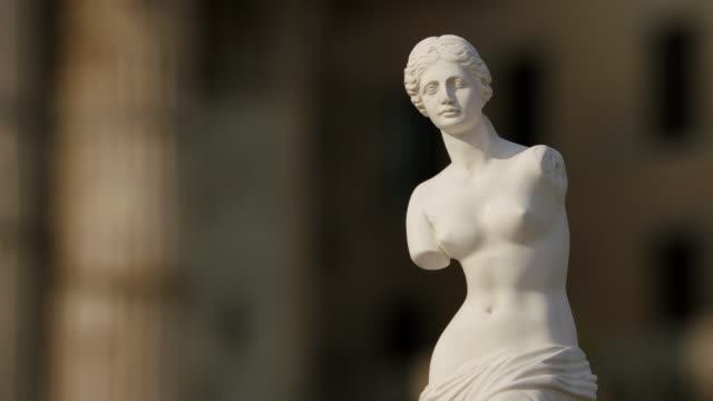 MS View of statue / Rome, Italy