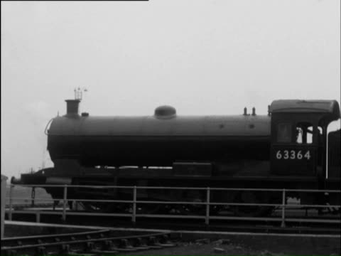 ms td view of steam engines and coaling plants and watering locomotive / thornaby, cleveland, england - cleveland stock videos and b-roll footage