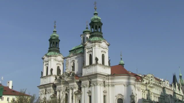 ms view of st.nickolos church / prague, hlavni mesto praha, czech republic - czech culture stock videos and b-roll footage
