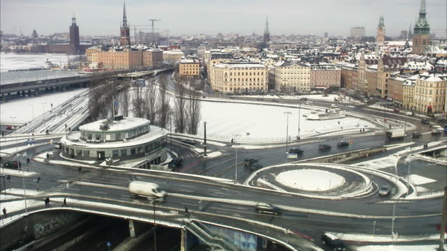 view of stockholm, sweden. - fast motion time lapse stock videos & royalty-free footage