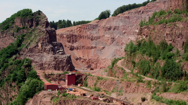WS View of stone quarry / Taben-Rodt, Rhineland-Palatinate Germany