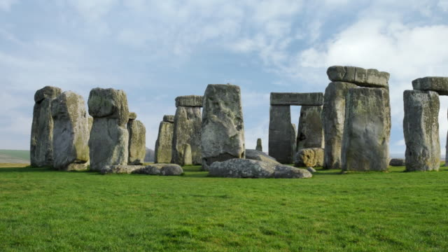 ws pan t/l view of stonehenge / england, uk - stonehenge stock videos and b-roll footage