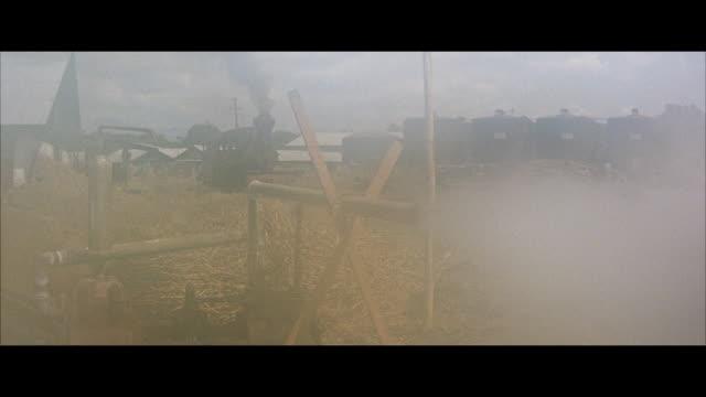 stockvideo's en b-roll-footage met ms view of stream engine train  - breedbeeldformaat