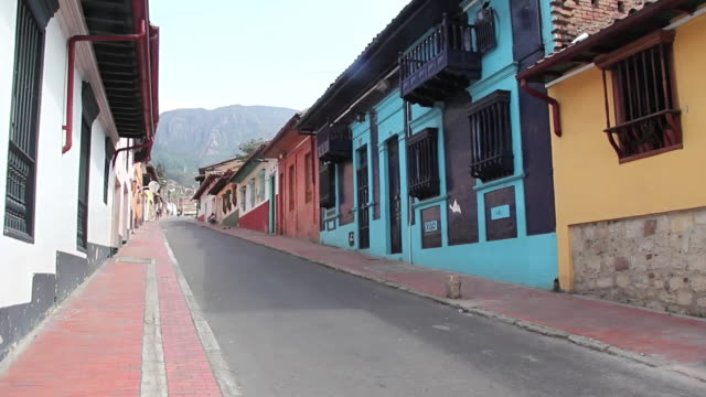 ws view of street / bogota, colombia - bogota stock videos & royalty-free footage