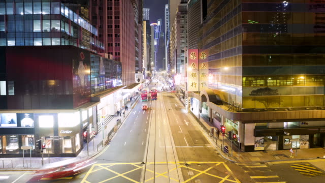 MS T/L View of street / Hong Kong