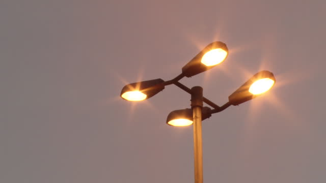 ms view of street lamp / sao paulo, brazil - street light stock videos & royalty-free footage