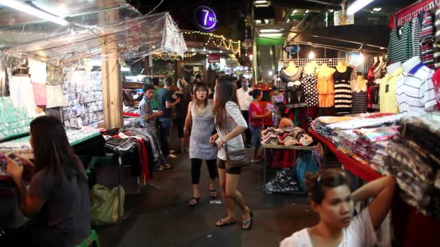 MS View of Street Marketof city / Bangkok, Bangkok, Thailand