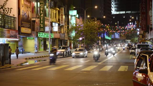 WS View of Street scene / Kuala Lumpur, Malaysia