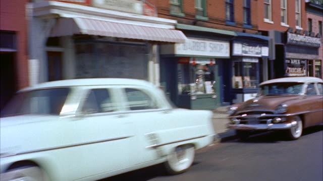 ms pov view of street / washington d.c., united states - washington dc stock-videos und b-roll-filmmaterial