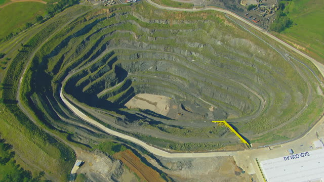 ms aerial ds view of strip mining / sydney, new south wales, australia - gold mine stock videos and b-roll footage