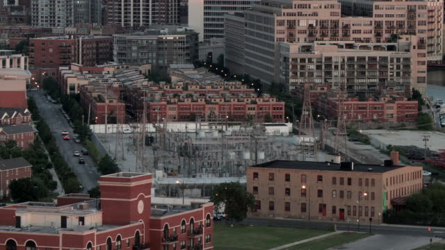 WS View of substation around buildings/ ChicagoIllinoisUnited States