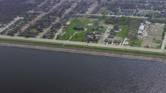 View of suburban area near Lake Pontchartrain / United States