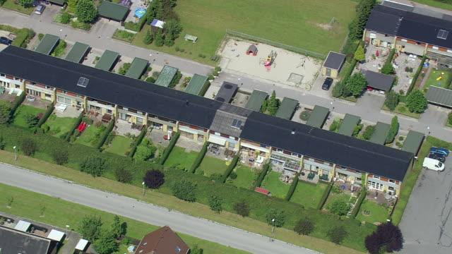 ws aerial zi view of suburbs of copenhagen / copenhagen, denmark - oresund region stock videos & royalty-free footage
