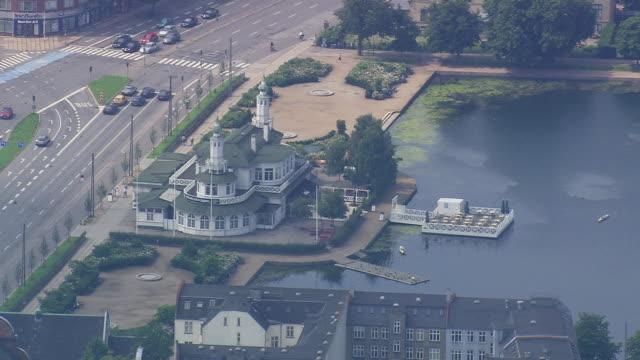 ws aerial view of suburbs of copenhagen / copenhagen, denmark - oresund region stock videos & royalty-free footage