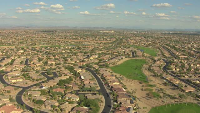 WS AERIAL View of suburbs / Phoenix, Arizona, United States