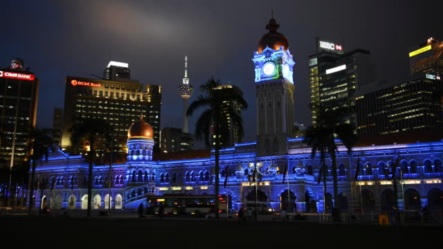 ws view of sultan abdul samad building, kuala lumpur, bali / kuala lumpur, malaysia - sultan abdul samad building stock videos & royalty-free footage