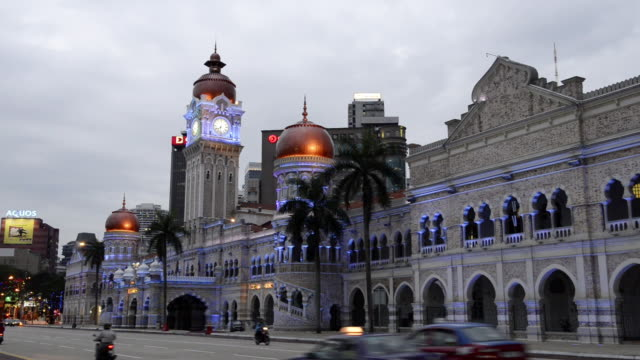 ws view of sultan abdul samad building / kuala lumpur, malaysia - sultan abdul samad building stock videos & royalty-free footage