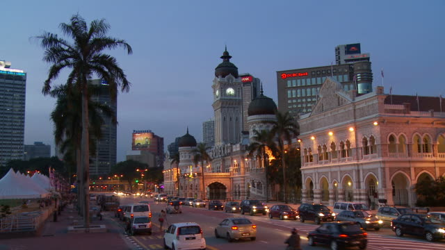 view of sultan abdul samad building kuala lumpur, malaysia - sultan abdul samad building stock videos & royalty-free footage