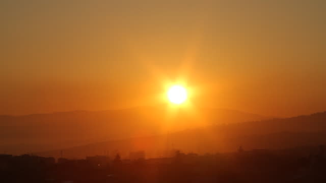 ws view of sun in sky with birds flying / casablanca, centro, morocco - wiese stock videos & royalty-free footage