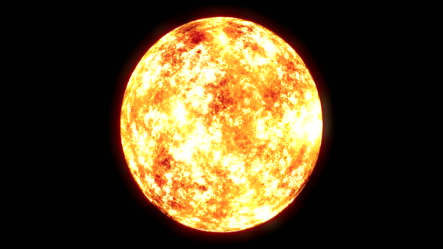 ws view of sun with glow around surface on keyable backdrop / montreal, quebec, canada - sole video stock e b–roll