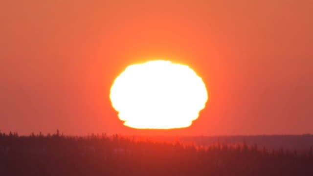 WS T/L View of Sunrise / Yellowknife, Northwest, Canada