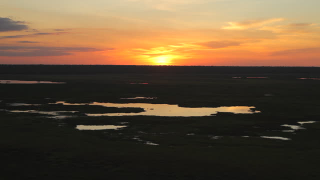 ws t/l view of sunset over horizon from ubiir rock / northern territory, australia - wiese stock videos & royalty-free footage