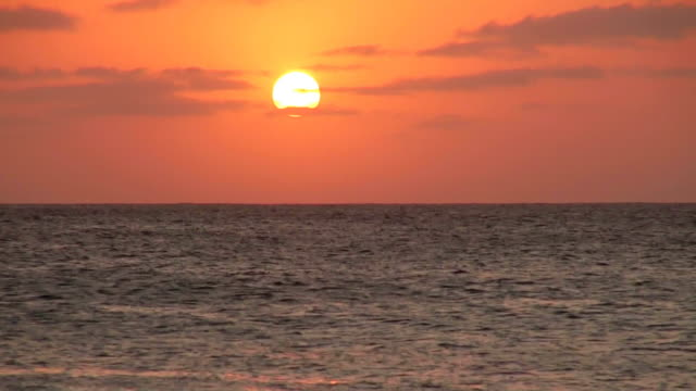 ws view of sunset / santa maria, sal, cape verde - verde color stock videos & royalty-free footage