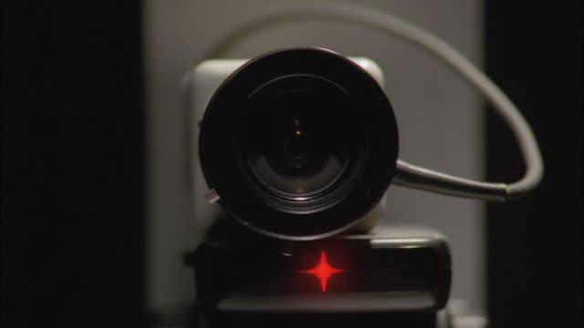 cu zi view of surveillance camera confessional booth - storebror bildbanksvideor och videomaterial från bakom kulisserna