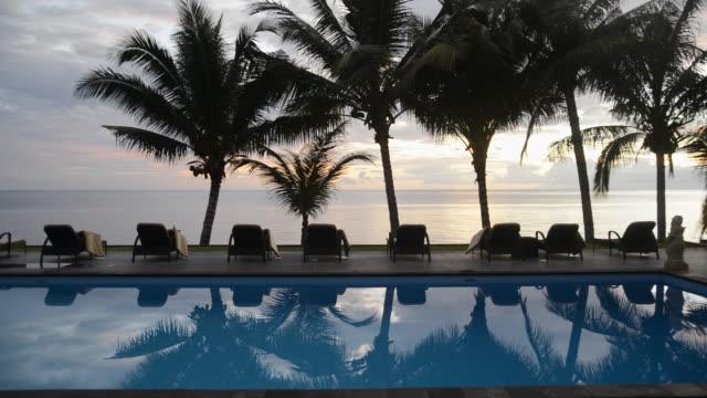 WS View of Swimming pool at beach, Bali / Tumbalen, Indonesia