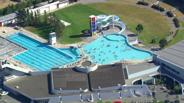 WS AREAIL View of Swimming pool at Reykjavik / Iceland