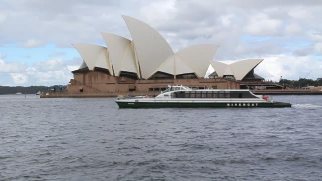 WS View of  Sydney Opera house with sea / Sydney, Australia